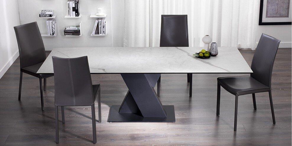 Athena Italian Marble Ceramic Dining Table Design